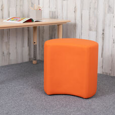 "Soft Seating Collaborative Moon for Classrooms and Common Spaces - 18"" Seat Height (Orange)"
