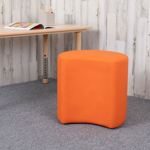"Our Soft Seating Collaborative Moon for Classrooms and Common Spaces - 18"" Seat Height (Orange) is on sale now."