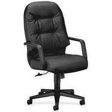 The HON Company 2091 Series Pillow-Soft High-Back Executive Chair - Black Leather