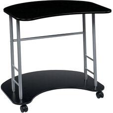 OSP Designs Kool Kolor Computer Desk with Casters - Jet Black