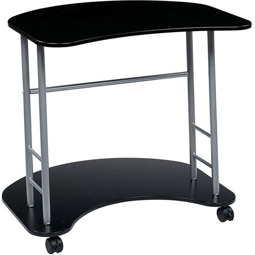 Our OSP Designs Kool Kolor Computer Desk with Casters - Jet Black is on sale now.