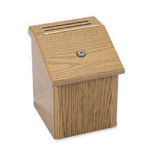 Safco Locking Wood Suggestion Box