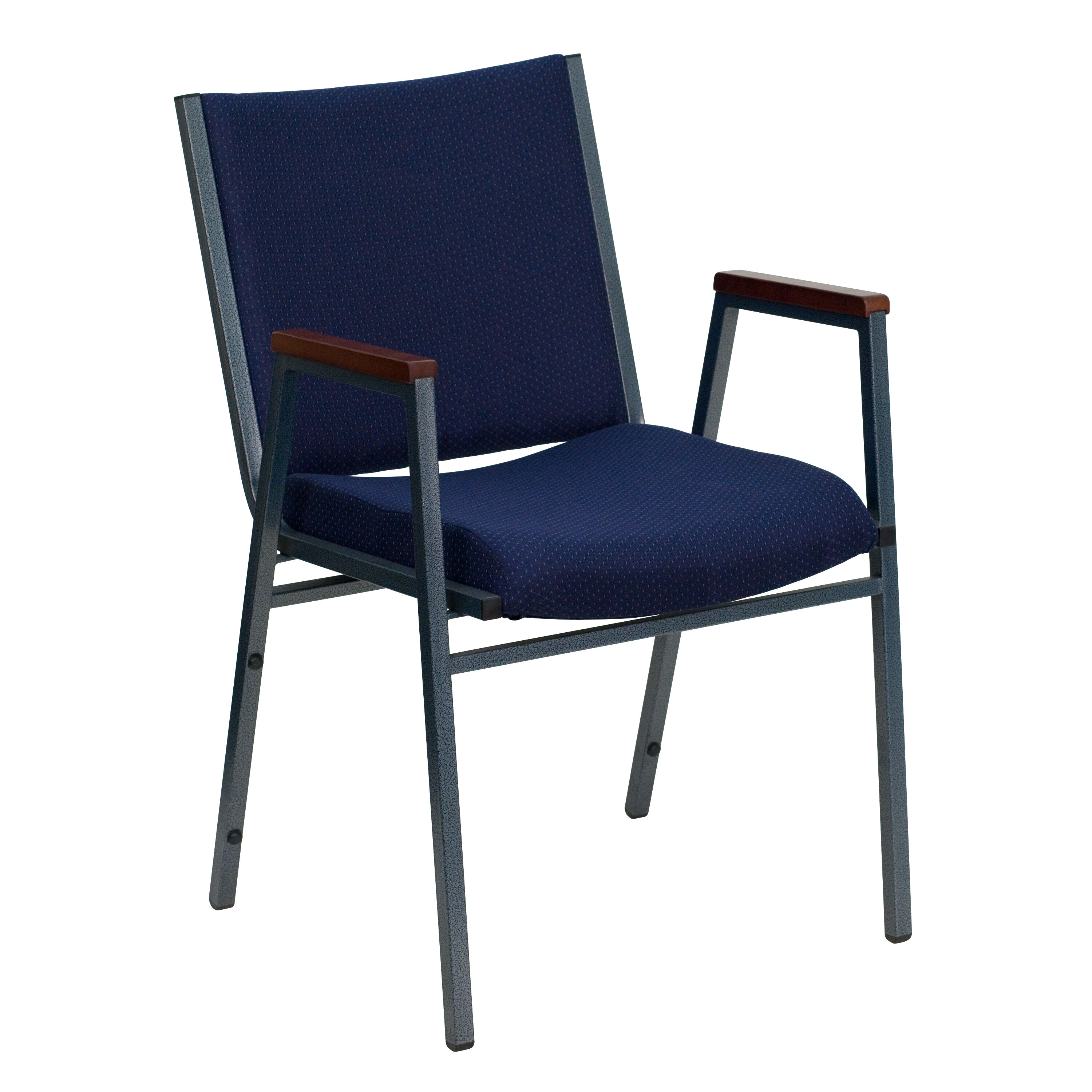 HERCULES Series Heavy Duty Navy Blue Dot Fabric Stack Chair with Arms  sc 1 st  Bizchair.com & Church Chairs With Arms | BizChair.com