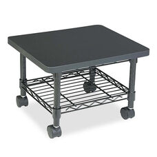 Safco® Under desk Printer/Fax Stand - One-Shelf - 19w x 16d x 13-1/2h - Black