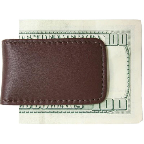 Our Magnetic Money Clip - Top Grain Nappa Leather with Suede Lining - Brown is on sale now.