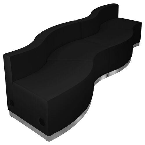 Our HERCULES Alon Series Black Leather Reception Configuration, 4 Pieces is on sale now.