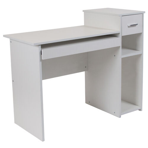 Our Highland Park White Computer Desk with Shelves and Drawer is on sale now.