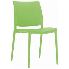 Maya Outdoor Polypropylene Stackable Dining Chair - Tropical Green