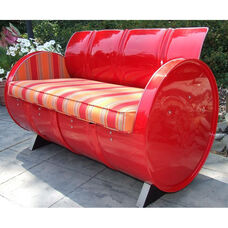Salsa Steel Drum Loveseat with Multicolor Accents