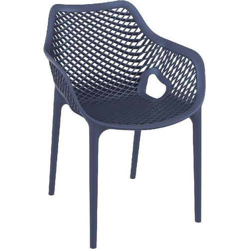 Our Air XL Modern Resin Outdoor Dining Arm Chair - Dark Gray is on sale now.