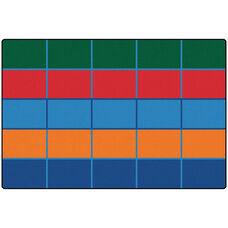 Kids Value Color Blocks Value Seating Rectangular Nylon Rug - 72