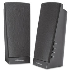 Compucessory Pre-Amplified Flat Panel Speakers - Pack Of 2