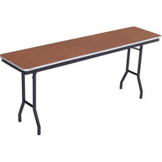 Sealed and Stained Plywood Top Table with Aluminum T - Molding Edge - 24