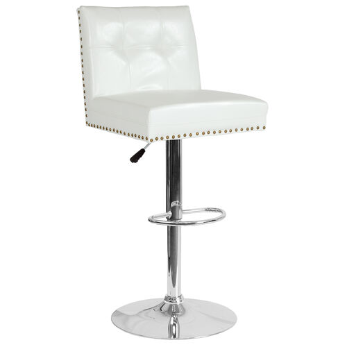 Our Ravello Contemporary Adjustable Height Barstool with Accent Nail Trim in White LeatherSoft is on sale now.