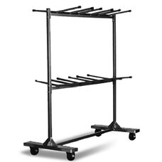Hanging Folding Chair Cart with 96 Chair Capacity - 90''L X 31.25''W