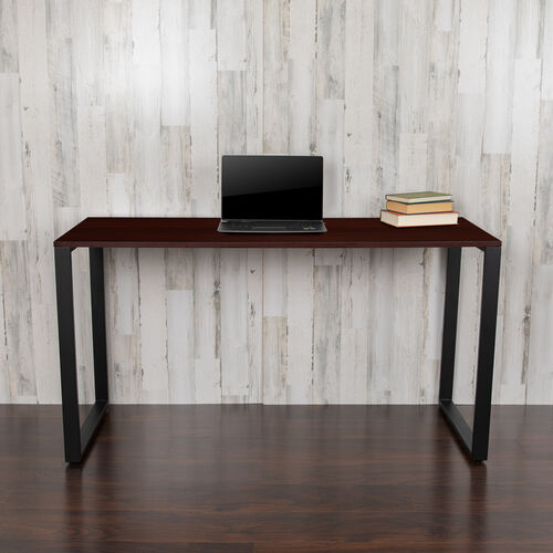 """Our Commercial Grade Industrial Style Office Desk - 55"""" Length (Mahogany) is on sale now."""