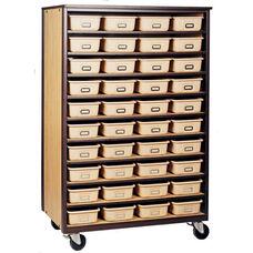 10-Shelf Tote Tray Mobile Storage