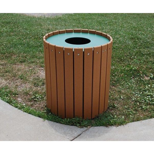 Our Standard Round 32 Gallon Recycled Plastic Receptacle is on sale now.