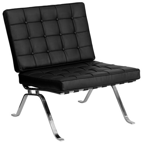 Our HERCULES Flash Series Black Leather Lounge Chair with Curved Legs is on sale now.
