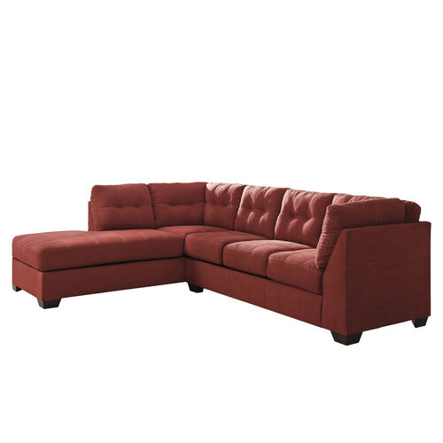 Our Benchcraft Maier Sectional with Left Side Facing Chaise in Sienna Microfiber is on sale now.