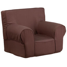 Small Solid Brown Kids Chair