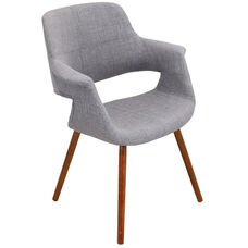 Vintage Flair Mid-Century Modern Fabric Accent Chair - Light Grey