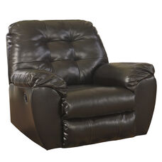 Signature Design by Ashley Alliston Rocker Recliner in Chocolate Faux Leather