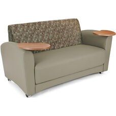 InterPlay Tablet Taupe Sofa - Bronze Finish
