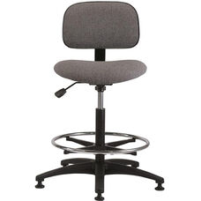 Industrial Cloth ABS Base Task Chair with Glides and Footring
