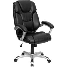 High Back Black Leather Executive Swivel Chair