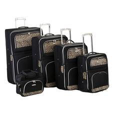 Rockland 5 Pc. Luggage Set - Black