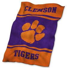Clemson University Team Logo Ultra Soft Blanket