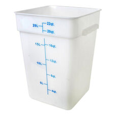 22 Quart Plastic Square Food Storage Container in White