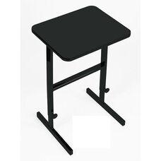 Height Adjustable Rectangular Laminate Top Standing Work Station - Black Granite - 20