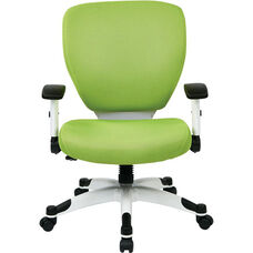 Space Pulsar Padded Mesh Seat and Back Managers Office Chair - Green