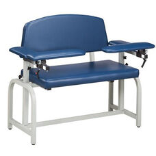 Lab X Series Extra Wide Blood Drawing Chair with Padded Arms