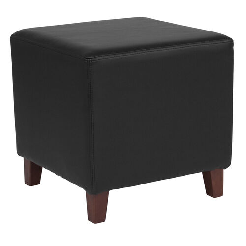 Our Ascalon Upholstered Ottoman Pouf in Black Leather is on sale now.