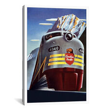 Canadian Pacific (Railway Train) Advertising Vintage Poster by Unknown Artist Gallery Wrapped Canvas Artwork - 26