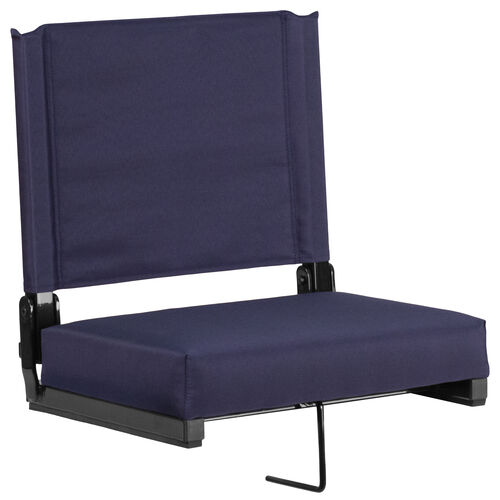 Our Grandstand Comfort Seats by Flash with Ultra-Padded Seat in Navy is on sale now.