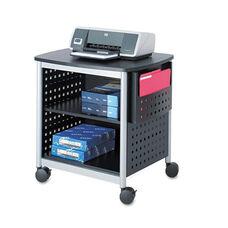 Safco® Scoot Printer Stand - 26-1/2w x 20-1/2d x 26-1/2h - Black/Silver