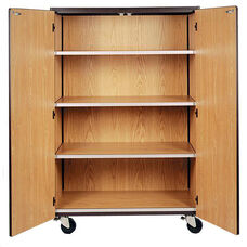 Mobile Band Storage Cabinet w/Locking Doors