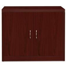 The HON Company Valido 11500 Series Contemporary Double Door Storage Cabinet in Mahogany Finish