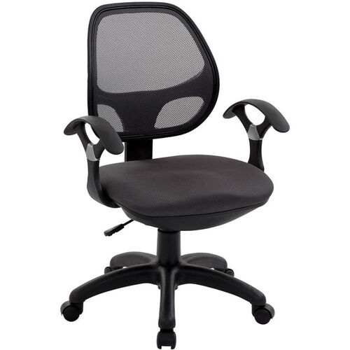 Techni Mobili Mid-Back Mesh Task Chair - Black