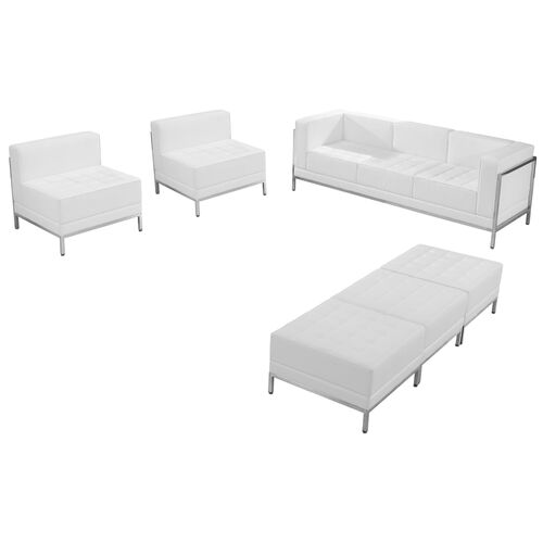 Our HERCULES Imagination Series Melrose White LeatherSoft Sofa, Chair & Ottoman Set is on sale now.