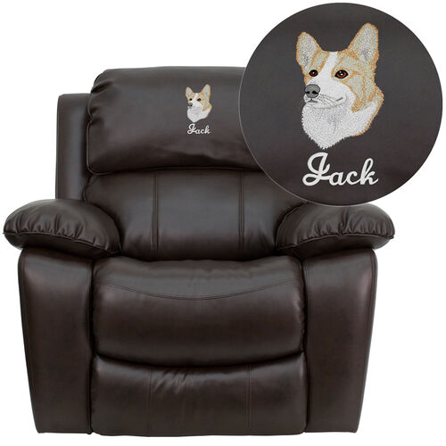 Our Dreamweaver Brown Leather Rocker Recliner: Personalized Design is on sale now.
