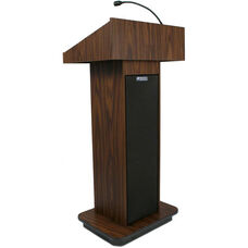 Executive 150 Watt Amplifier Sound Column Lectern - Walnut Finish - 22
