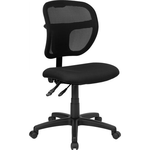 Our Mid-Back Black Mesh Swivel Task Office Chair with Back Height Adjustment is on sale now.
