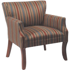 5843 Upholstered Lounge Chair w/ Curved Wood Leg - Grade 2