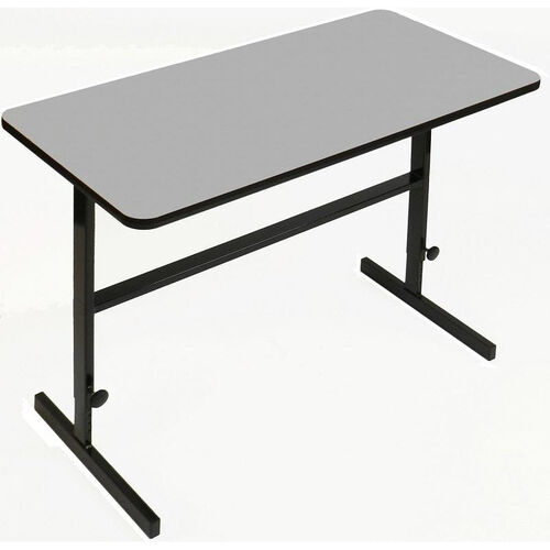 Our Height Adjustable Rectangular Laminate Top Standing Work Station - Gray Granite - 24