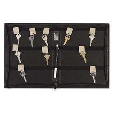 SecurIT® Security-Backed Zippered Case - 48-Key - Vinyl - Black - 9 x 1 x 11 5/8